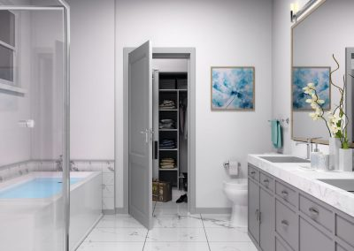 luxury bathroom rendering.