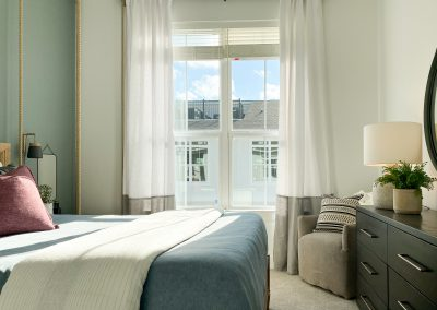guest room with large windows