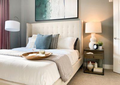 main bedroom with coastal decor